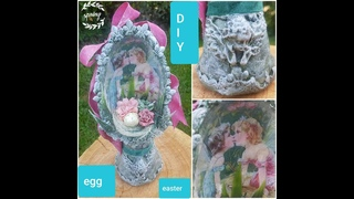 DIY easter egg decor spring, МК яйцо пасхальное ,el huevo de Pascua,jajko wielkanocne