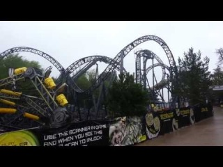 The Smiler - World first 14 looping roller coaster - complete ride