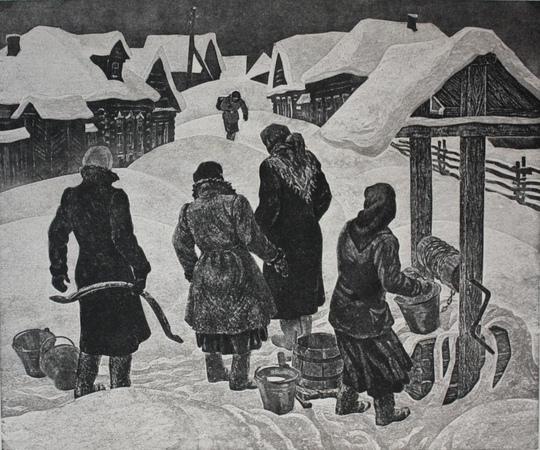 И.Н.Воробьёва. Женщины России в годы войны. Графика