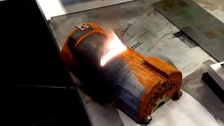 Удивительное обновление металла.  Удаление ржавчины лазером