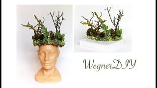 DIY Корона для фотосессии из веток лесной феи Forest Queen crown