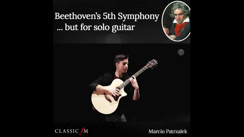 Beethoven's 5th but for solo guitar