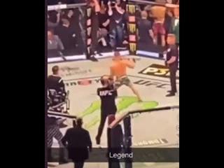 Conor McGregor nearly kicks security guard