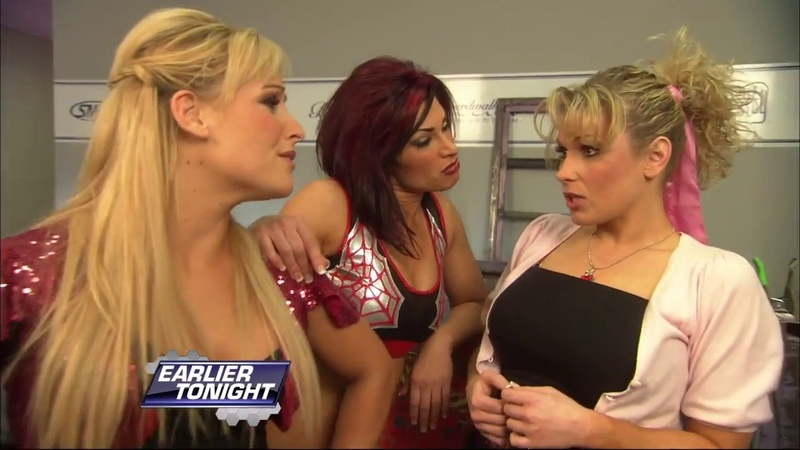 Cherry and Michelle McCool vs Natalya and Victoria SD May 2 2008