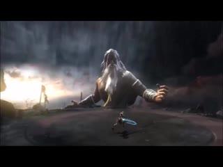 Zeus vs kratos (with lyrics) god of war 2