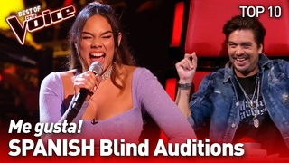 UNEXPECTED SPANISH Blind Auditions in The Voice   TOP 10