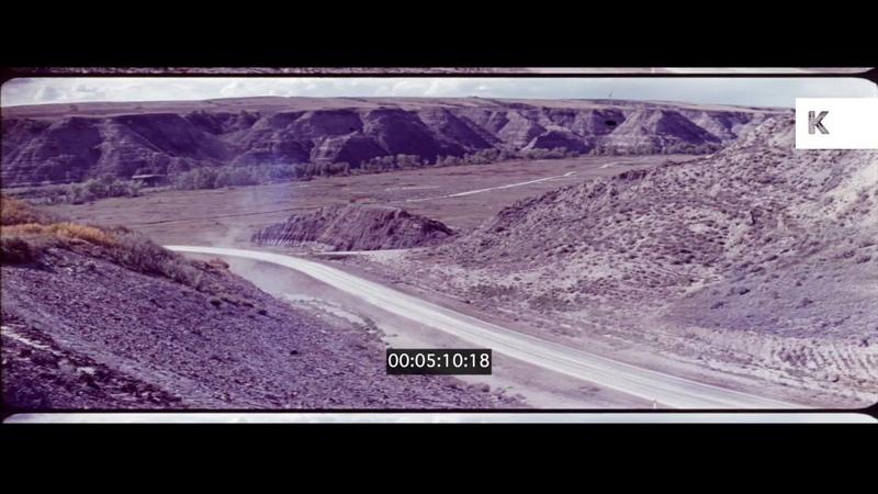 1970s Red Sedan Racing Through Desert 35mm