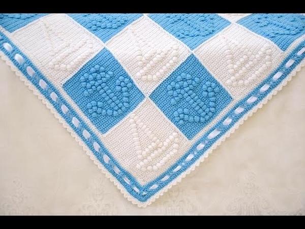 Tığişi örgü popcorn motifleri ve battaniye modelleri Crochet