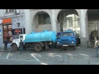 Харьков.  Горсовет в Харькове готовится к обороне