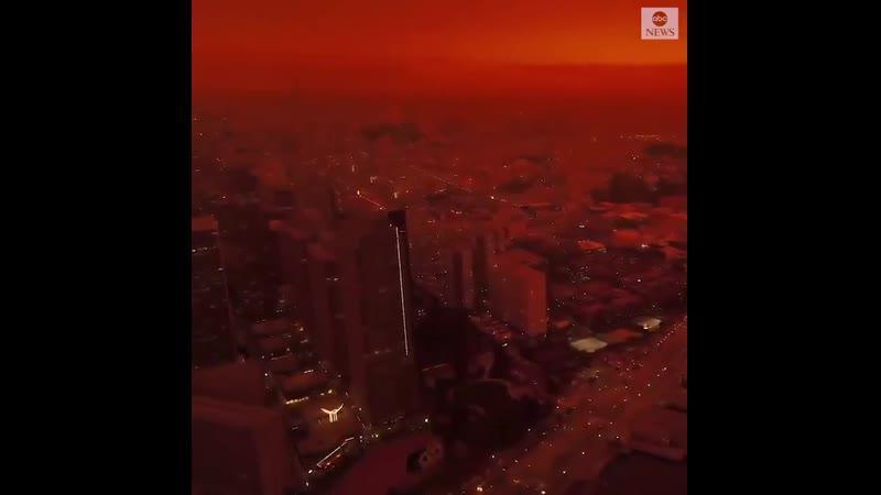 Уже вторые сутки Сан Франциско не перестает быть городом оранжевой мечты Из за лесных пожаров