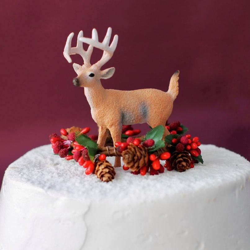 Рождественские топперы на торт