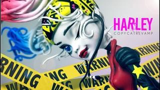 Doll Figurine Repaint HARLEY QUINN Birds of Prey | Suicide Squad | Monster High Ooak Repaint