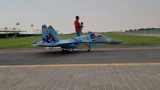 Giant Scale, Twin Turbine RC Jet - Sukhoi SU 27 - Full Flight with Ground Checks