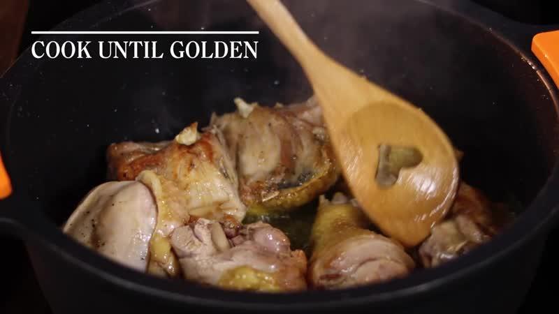 Испания Каталония Цыпленок с черносливом и кедровыми орешками Spain Chiken Casserole recipe by Joan Pallarès