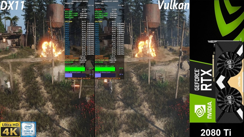 Ghost Recon BreakPoint Ultra Preset 4K DX11 VS VULKAN RTX 2080 Ti i9 9900K 5 1GHz
