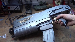 NERF Warhammer 40k mod: Making the wing skull, assembly, aging