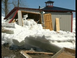 Apocalyptic ICE TSUNAMI 'Fearful Sight' ravage USA - CANADA; Buildings Destroyed May 13, 2013