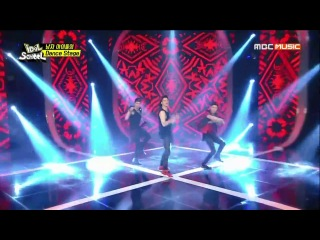 141014 KangJun (C-CLOWN) dancing HyunA - RED @ Idol School