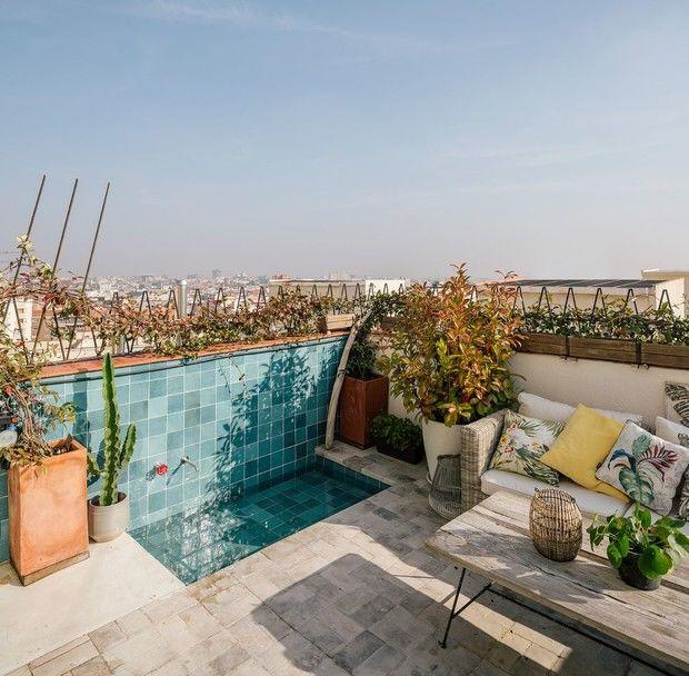 Мансарда с террасой на крыше в Мадриде