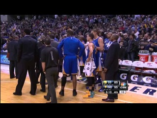 Brawl between the Golden State Warriors and Indiana Pacers 2-26-13