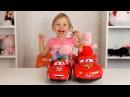 ✿ СВИНКА ПЕППА и новая машина Тачки Молния Маквин Disney Pixar Cars PEPPA PIG Мультики про Машинки