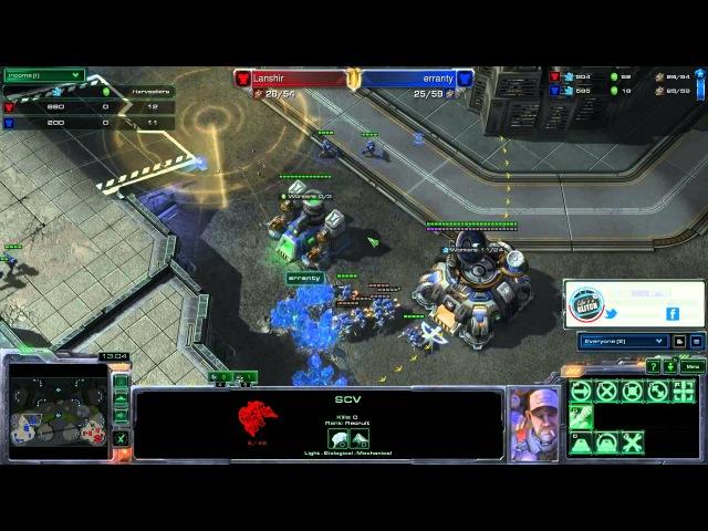 Lanshir T VS erranty T Starcraft 2 LAGTV