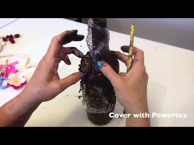 Bottle Bling with Powertex Fabric Hardener