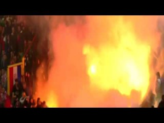 Italy vs Croatia 1-1 Match Stopped Because of Fireworks Flames and Chaos