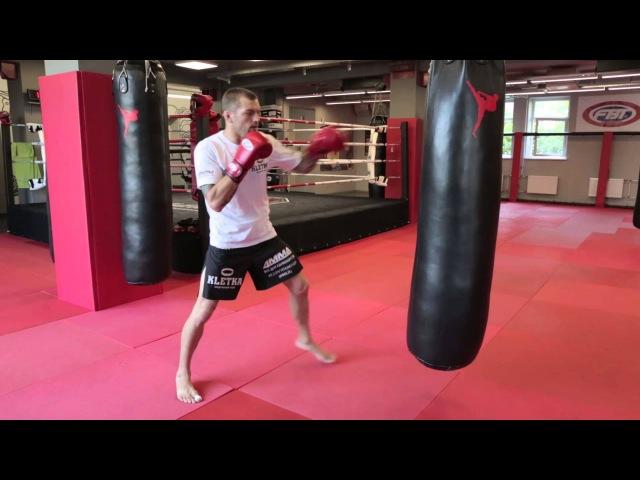 Работа на мешке с Андреем Басыниным тренировка ударов руками в боксе