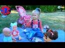 ✔ Кукла Беби Борн и девочка Ярослава в Парке на Пикнике / Baby Born Doll on a Picnic ✔