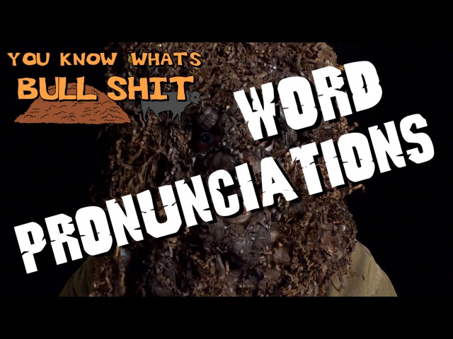 You Know Whats Bullshit! - Word Pronunciations