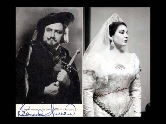 Leonard Warren Maria Callas Udiste Il Trovatore 1950