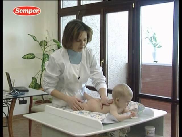 массаж для детей 1 года часть 1
