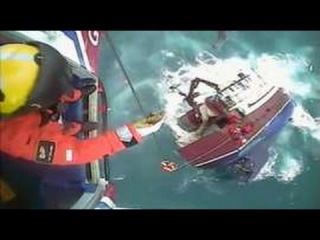 Footage shows rescue as ship sinks off the Isle of Lewis