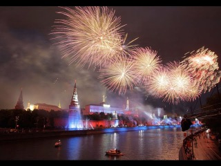 Праздничный салют в честь 70-ой годовщины Великой Победы