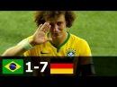 Бразилия 1 7 Германия Полуфинал ЧМ 2014 HD