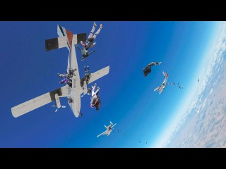 World Record Group Skydive: 65 Female Jumpers Take Epic Flight Upside Down!