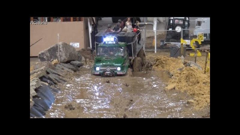 RC Off Road Course in Mud 4x4 Jeep Land Rover Trucks Ural ♦ Erlebniswelt Modellbau Kassel 2016