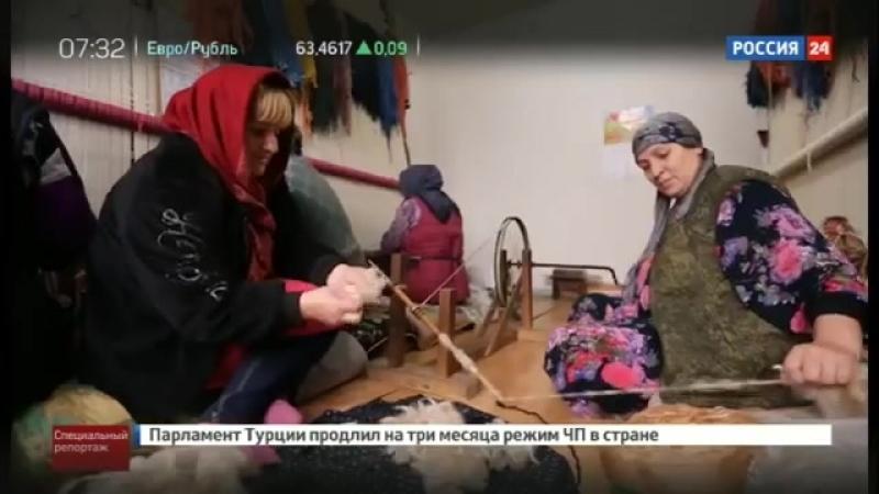 Репортаж от ВГТРК о промыслах Дагестана Табасаранские ковры балхарская керамика и нововикринские ворота