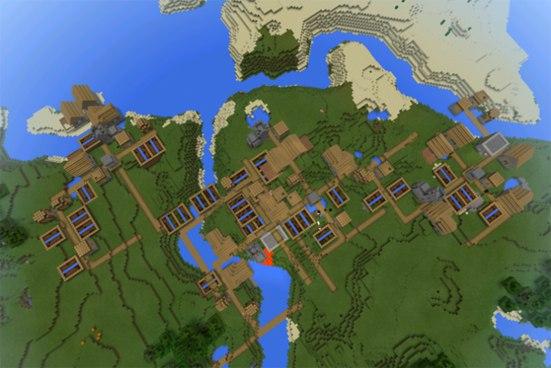 сид на много деревень в майнкрафт пэ 0.14.1 #7