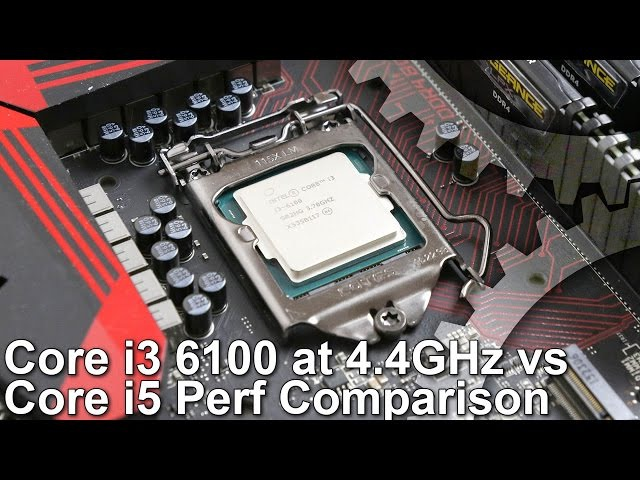 Core i3 6100 4 4GHz BCLK Overclock vs i5 2500K i5 3570K i5 4690K Benchmarks