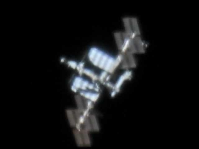 ISS through telescope