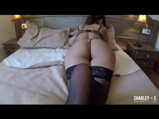 Charlotte Springer - Charley teasing on the bed_2