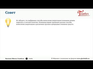 Амортизация основных средств  Ч 1 2015