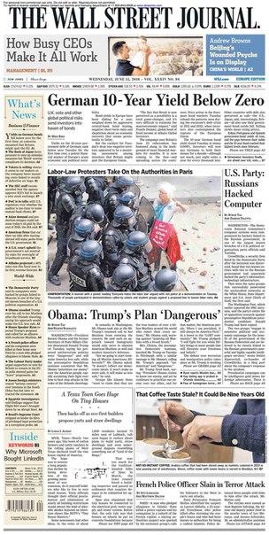 Financial Times Europe  June 15 2016