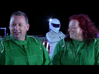 Dave and paula beat the stig the getaway car bbc one