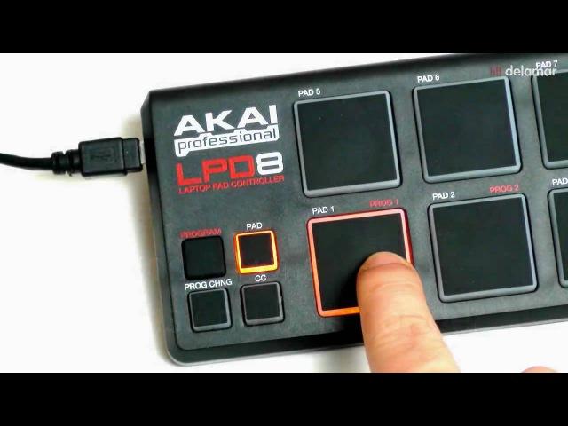 Akai LPD8 Testbericht Review Video Der kompakte USB MIDI Controller