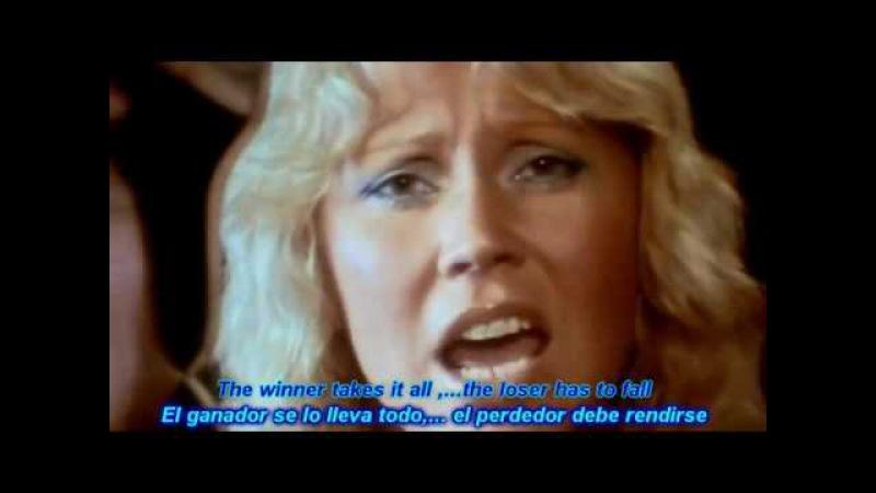 ABBA The Winner Takes It All HD Lyrics (Sub-Español Ingles) —.flv