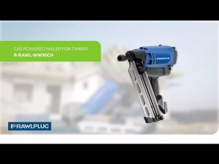 RAWLPLUG Gas nailer for timber framing and roofing applications