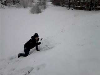 Как мы в пятницу снеговика лепили)